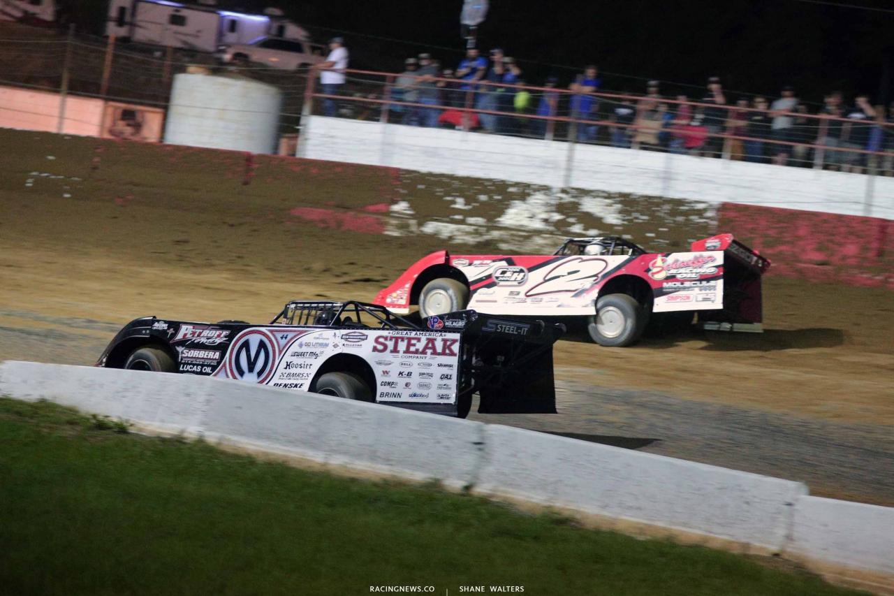 Chris Madden and Brandon Overton at Batesville Motor Speedway - Lucas Oil Late Models 4396