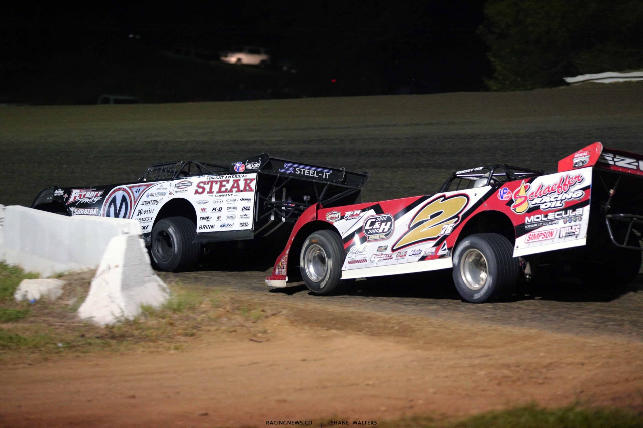 Chris Madden and Brandon Overton at Batesville Motor Speedway - Lucas Oil Series 4958