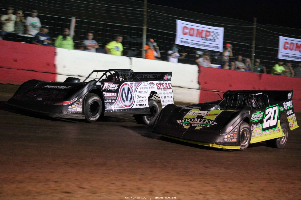 Chris Madden and Jimmy Owens at Batesville Motor Speedway - LOLMDS 4886