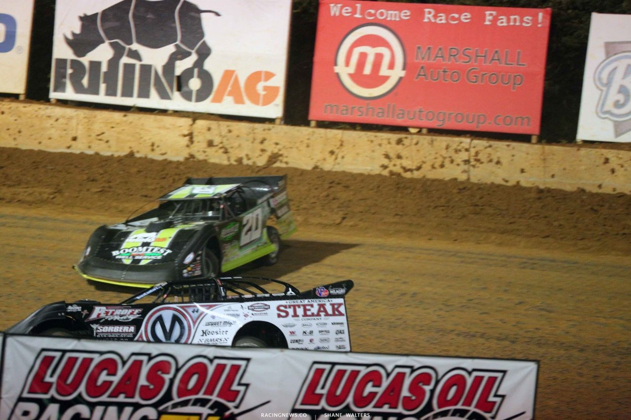 Chris Madden and Jimmy Owens at Florence Speedway - Lucas Oil Dirt Series 3409