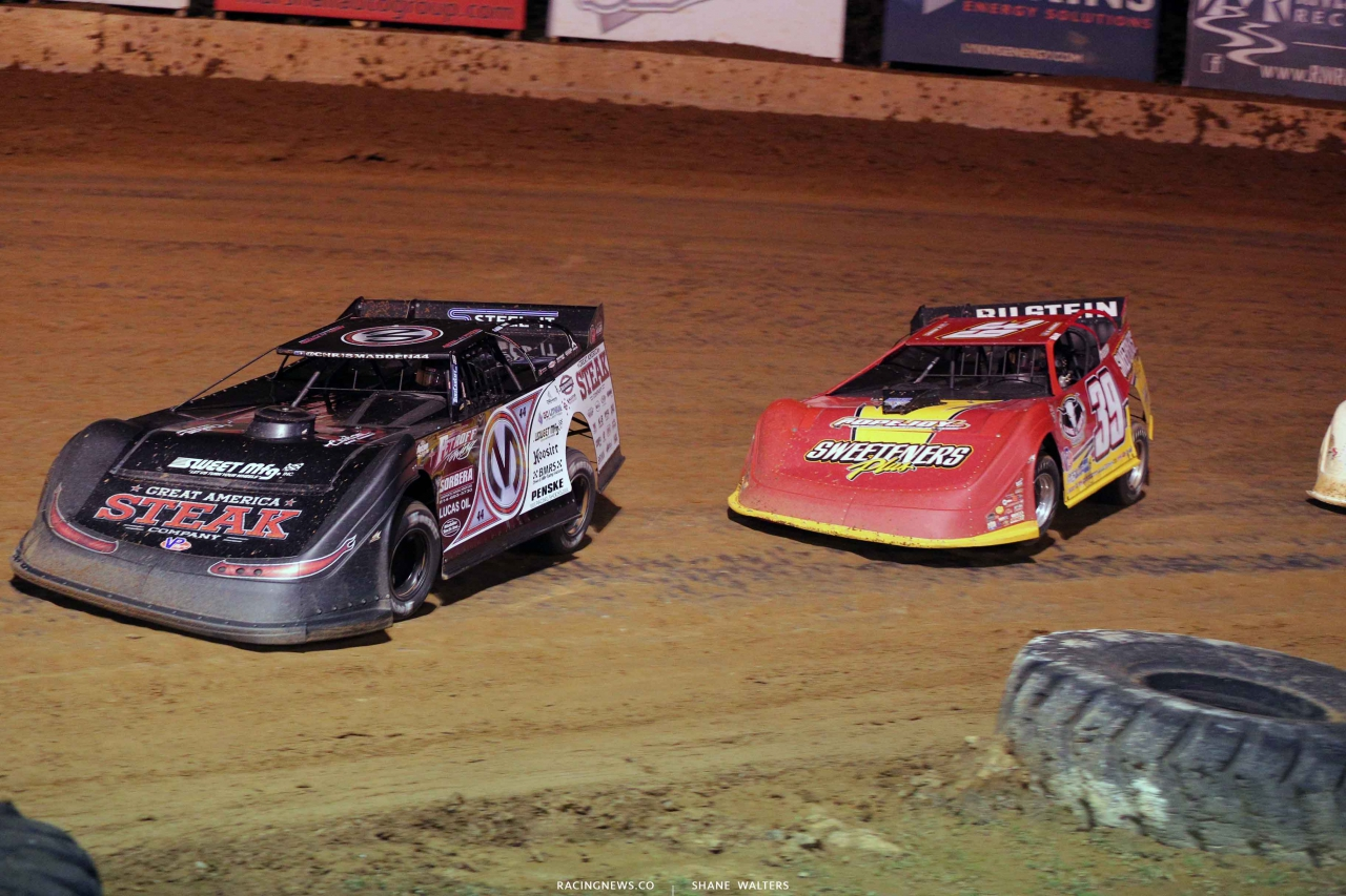 Chris Madden and Tim McCreadie at Florence Speedway - Lucas Oil Series 3419