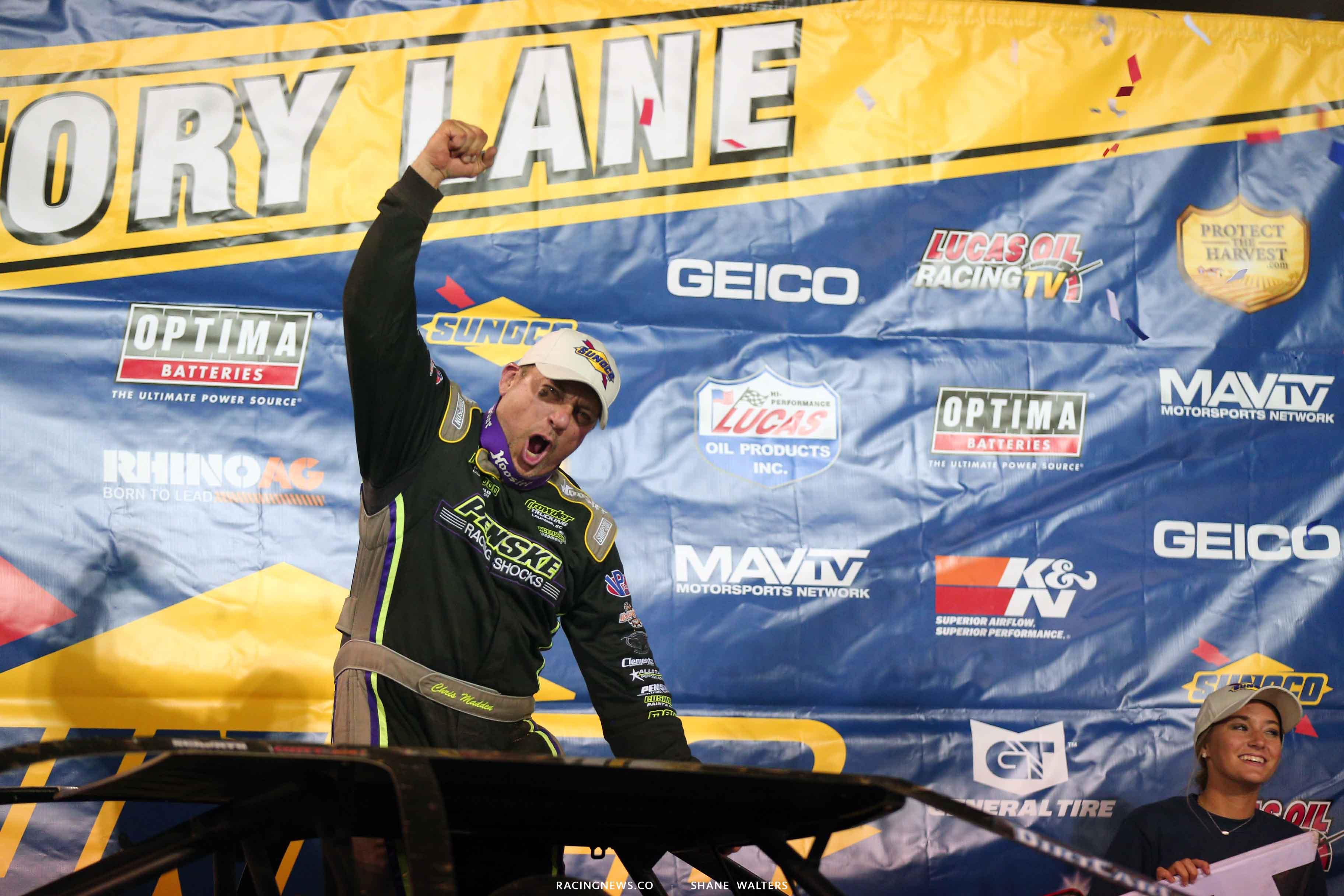 Chris Madden wins at Florence Speedway 4098