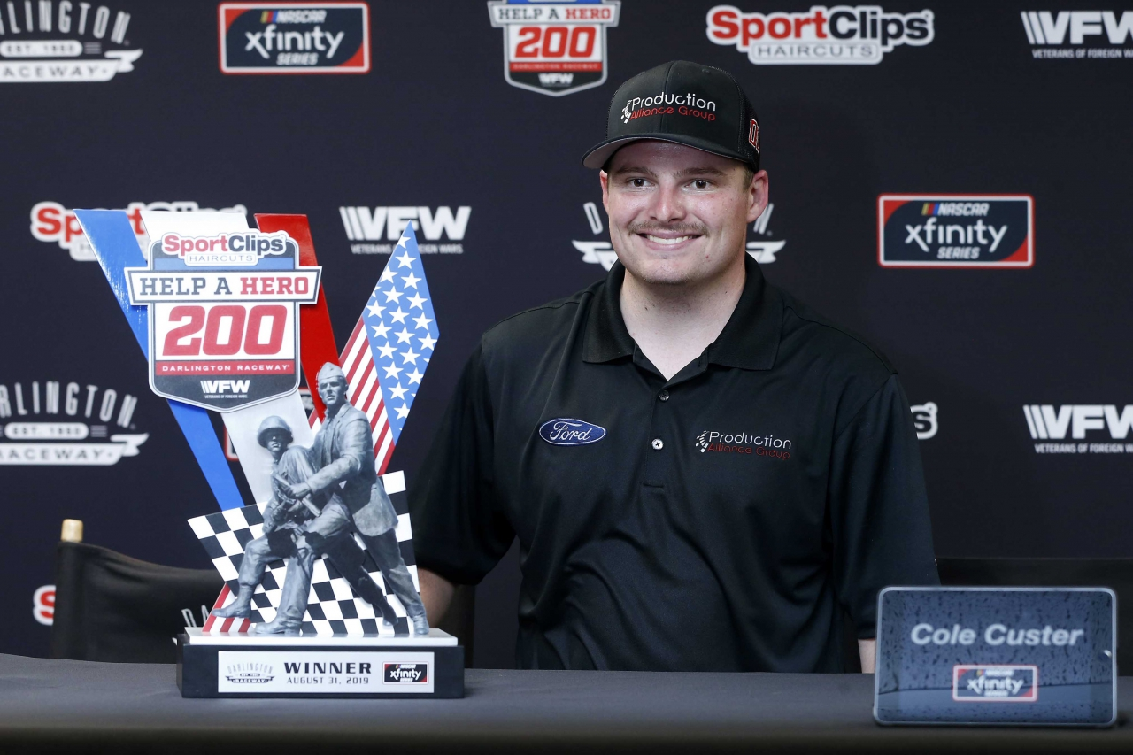 Cole Custer wins at Darlington Raceway - NASCAR Xfinity Series