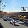 Denny Hamlin, Kurt Busch and Lyle Larson at Bristol Motor Speedway - NASCAR Cup Series