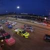 Eldora Dirt Derby at Eldora Speedway - NASCAR Truck Series - Four wide salute
