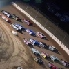 Four wide salute at Mansfield Motor Speedway - Dirt Million - Lucas Oil Late Model Dirt Series 5053