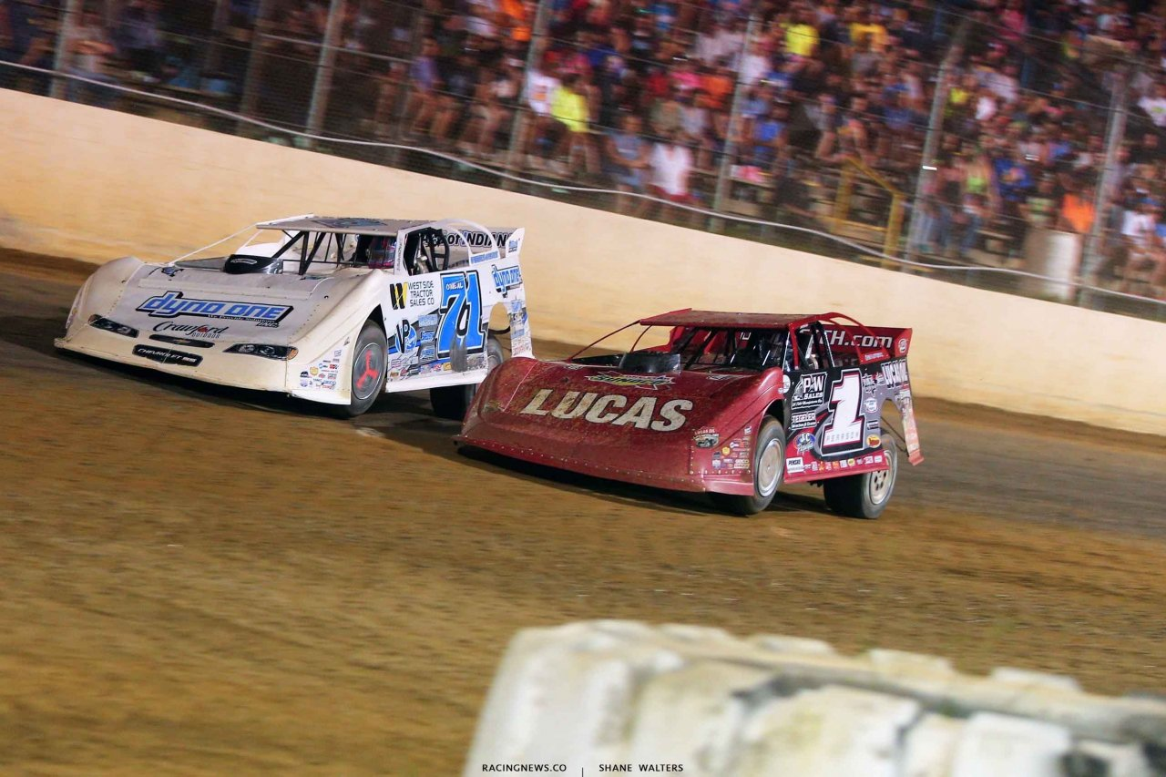 Hudson O'Neal and Earl Pearson Jr at Florence Speedway 3656