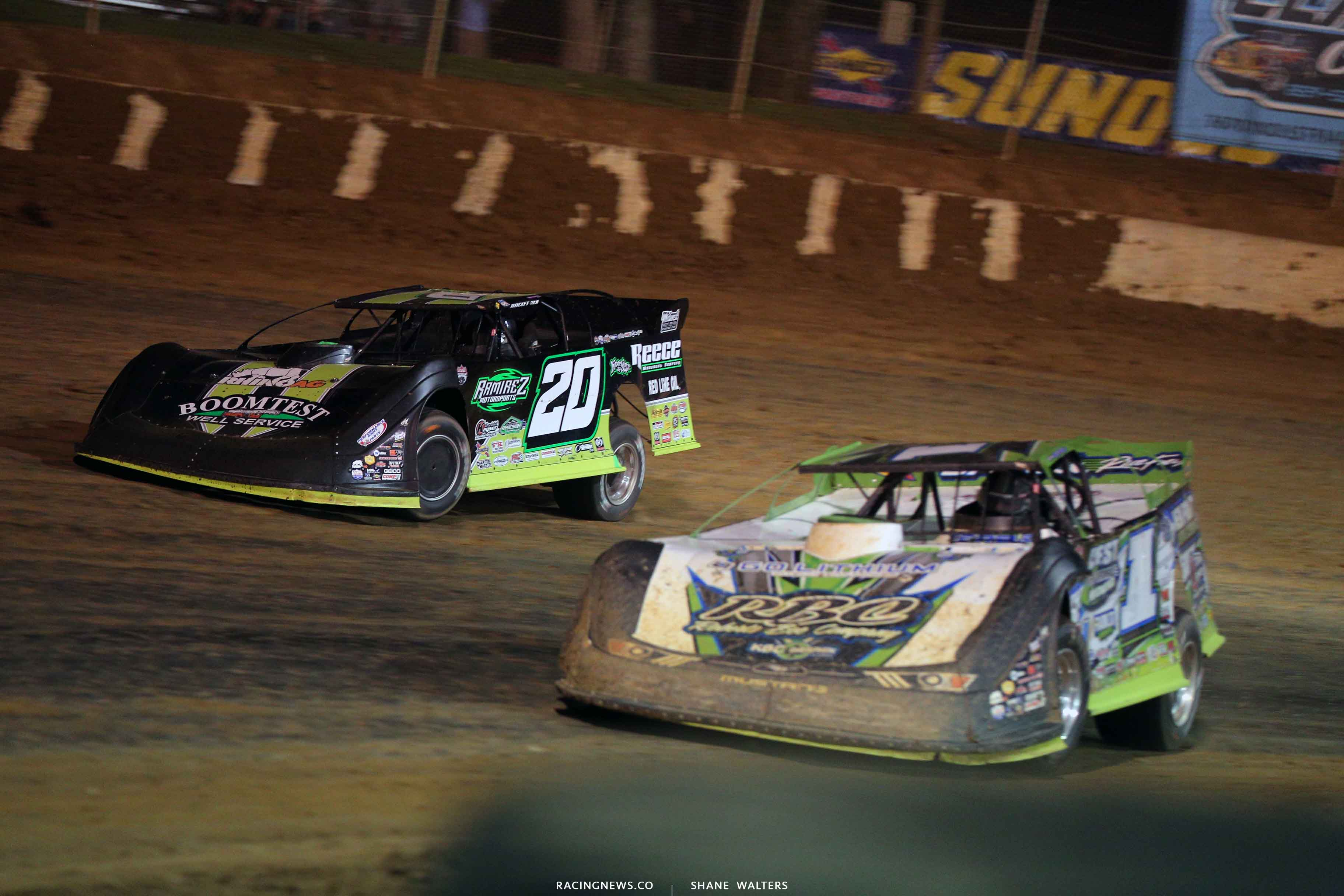 Jimmy Owens at Tyler Erb at Florence Speedway - Lucas Oil Late Model Series 3723