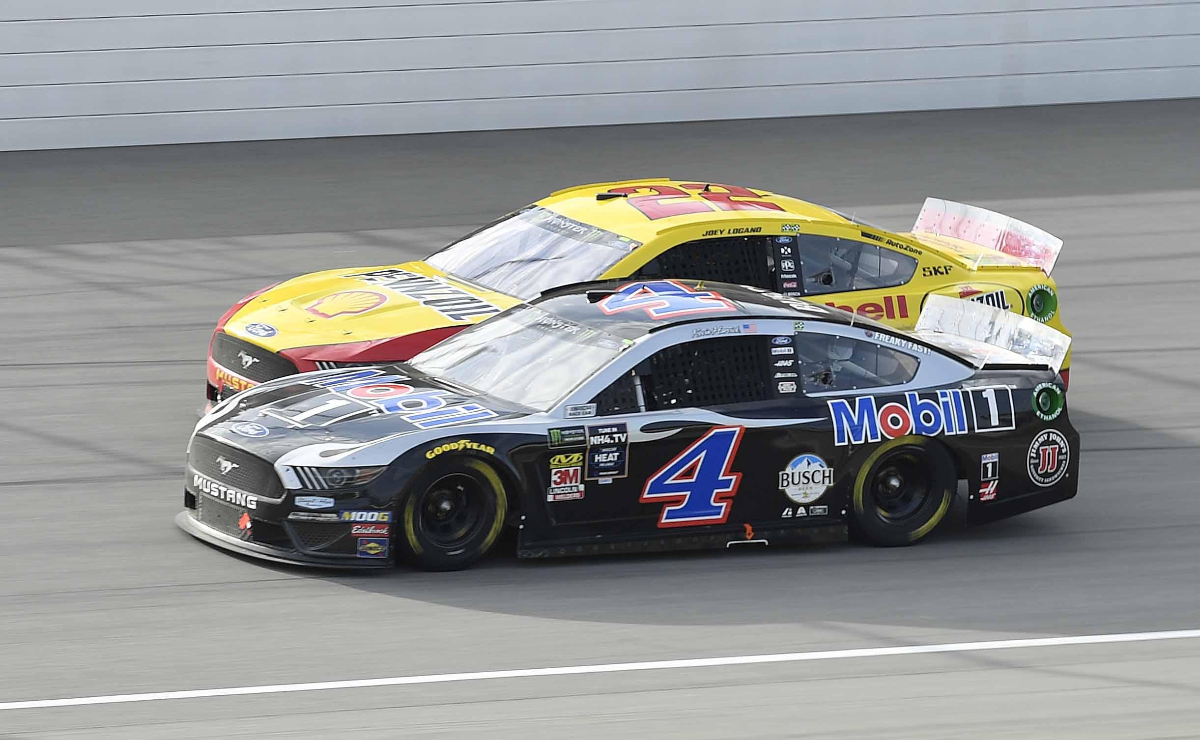Joey Logano and Kevin Harvick at Michigan International Speedway - NASCAR Cup Series