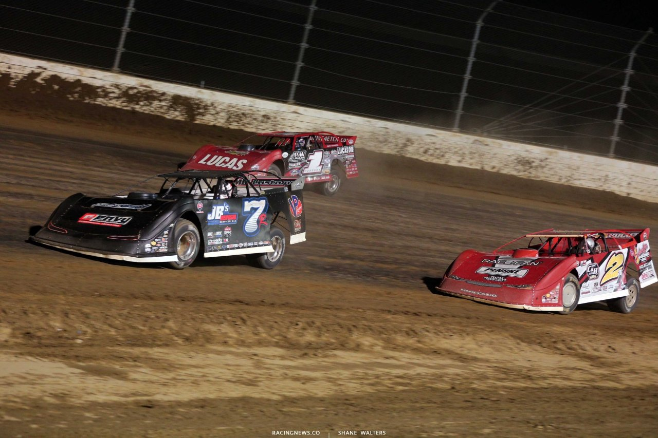 Kent Robinson, Earl Pearson Jr and Brandon Overton at Mansfield Motor Speedway - Lucas Oil Late Models 5362
