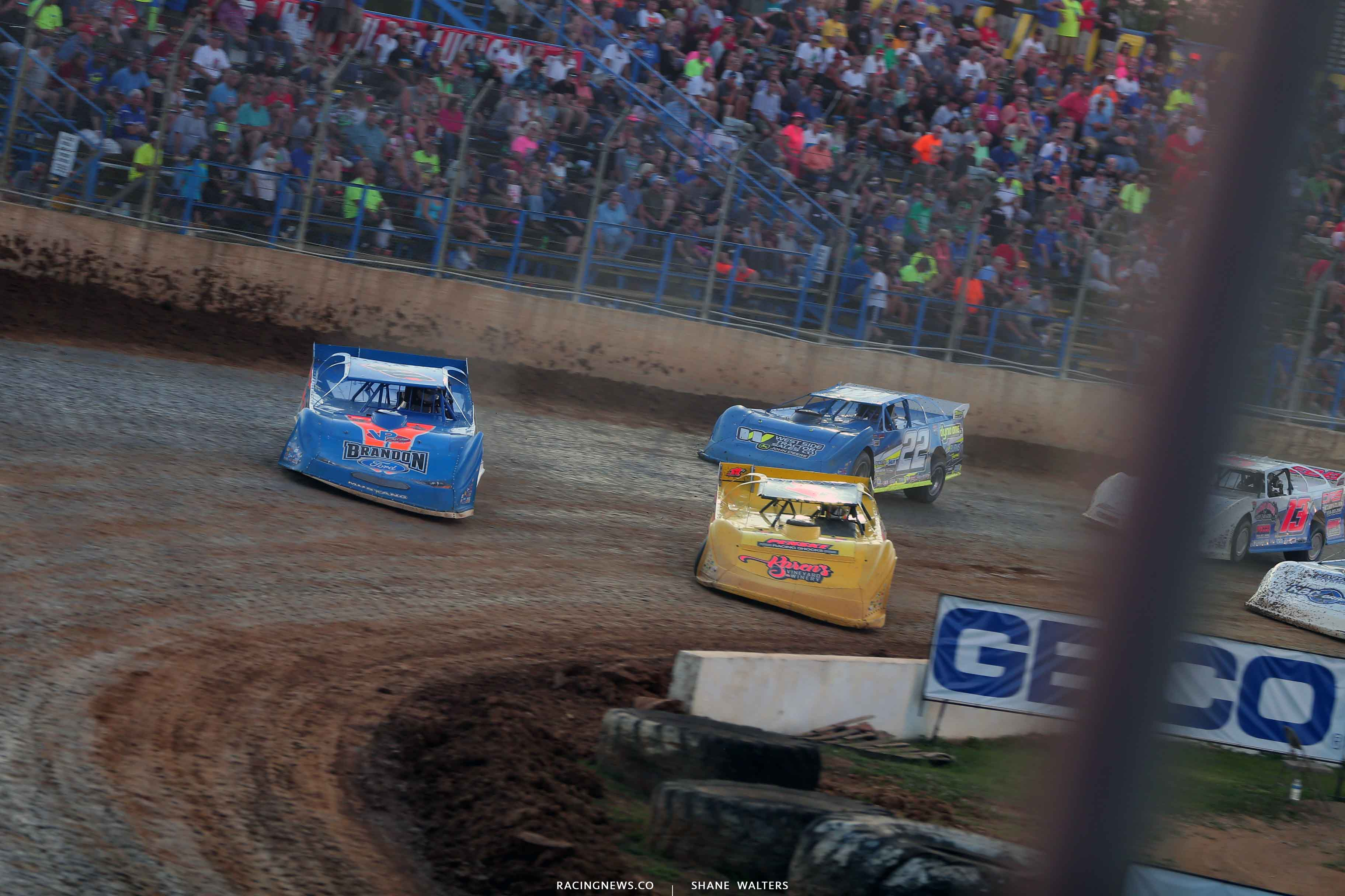 Kyle Bronson and Devin Gilpin at Florence Speedway - Lucas Oil Late Model Series 3598