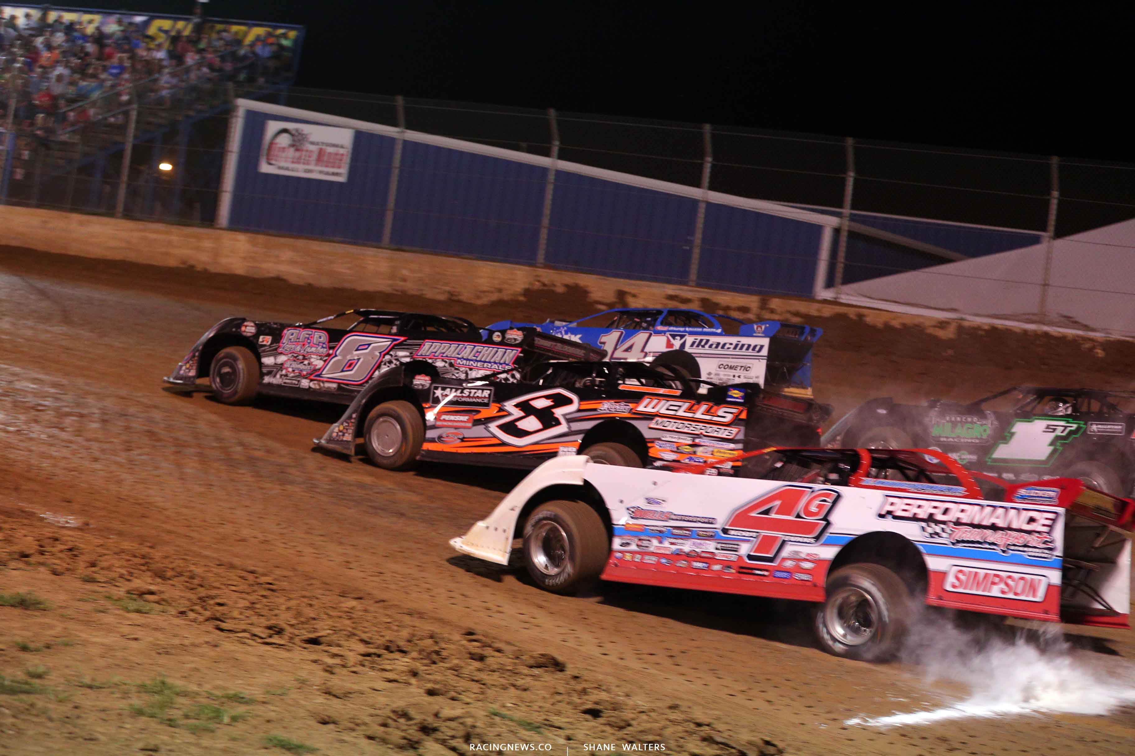 Mike Benedum, Josh Richards, Kyle Strickler and Kody Evans at Florence Speedway 3618