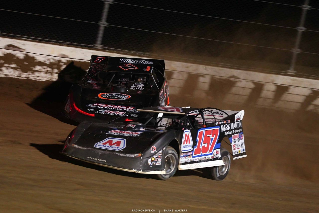 Mike Marlar and Ricky Weiss at Mansfield Motor Speedway - Lucas Oil Late Models 5200