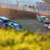 Mike Marlar leads Kevin Weaver at Florence Speedway - North South 100 - LOLMDS 3455
