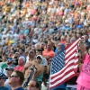 NASCAR fans and the American Flag at Bristol Motor Speedway