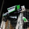 Sprint car stuck in fence at River Cities Speedway - World of Outlaws