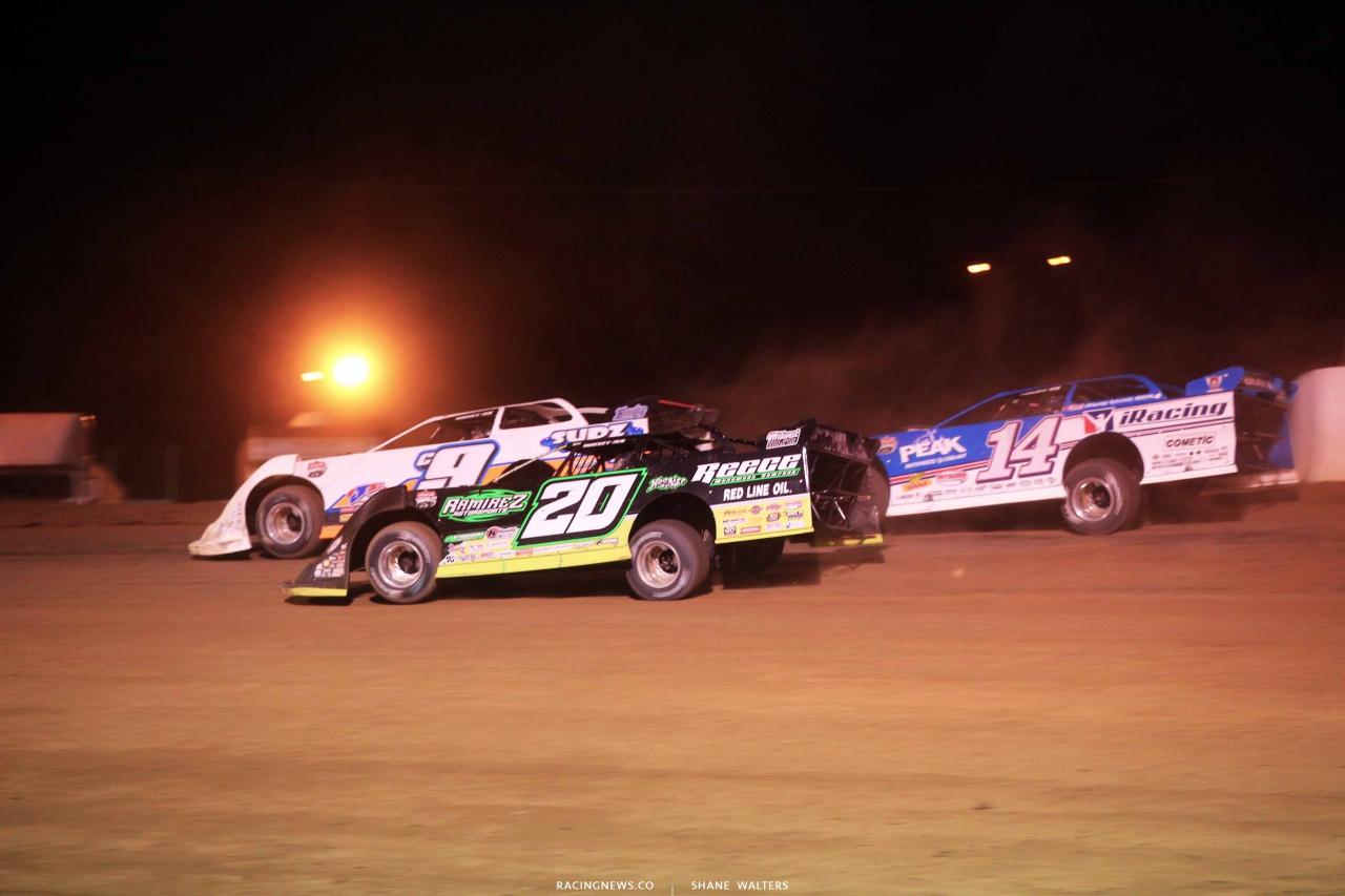 Steve Casebolt, Jimmy Owens and Josh Richards at Portsmouth Raceway Park - LOLMDS 6355
