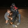 Stewart Friesen and son Parker Friesen