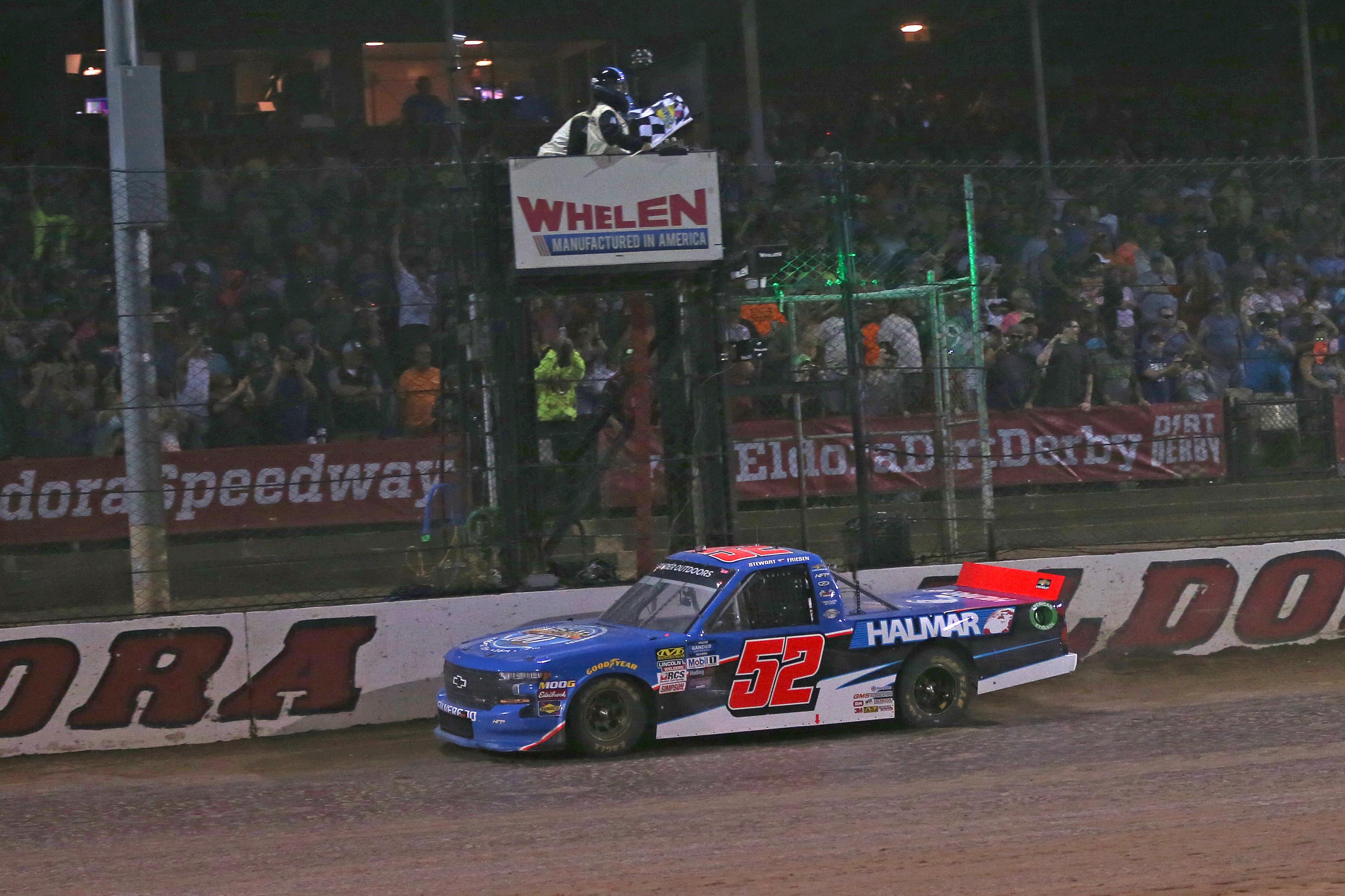 Stewart Friesen wins the Eldora Dirt Derby at Eldora Speedway - NASCAR dirt race