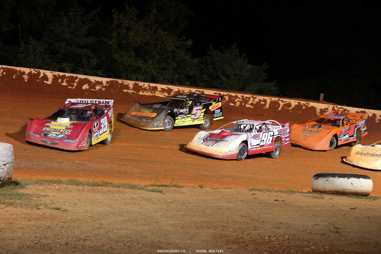 Tim McCreadie, Tanner English and Don O'Neal at Ponderosa Speedway - Lucas Series 6056
