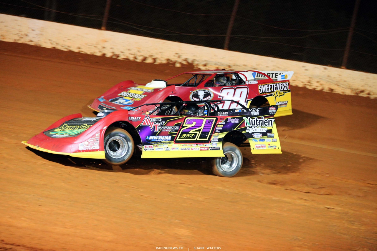 Tim McCreadie and Billy Moyer Jr at Ponderosa Speedway - Lucas Oil Late Model Dirt Series 5925