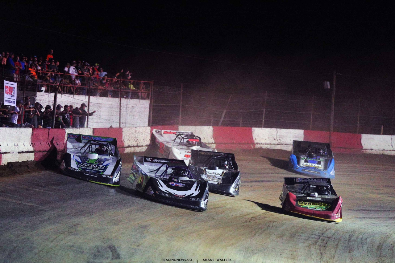 Tyler Erb, Billy Moyer and Billy Moyer Jr at Batesville Motor Speedway - Lucas Oil Late Models 4786