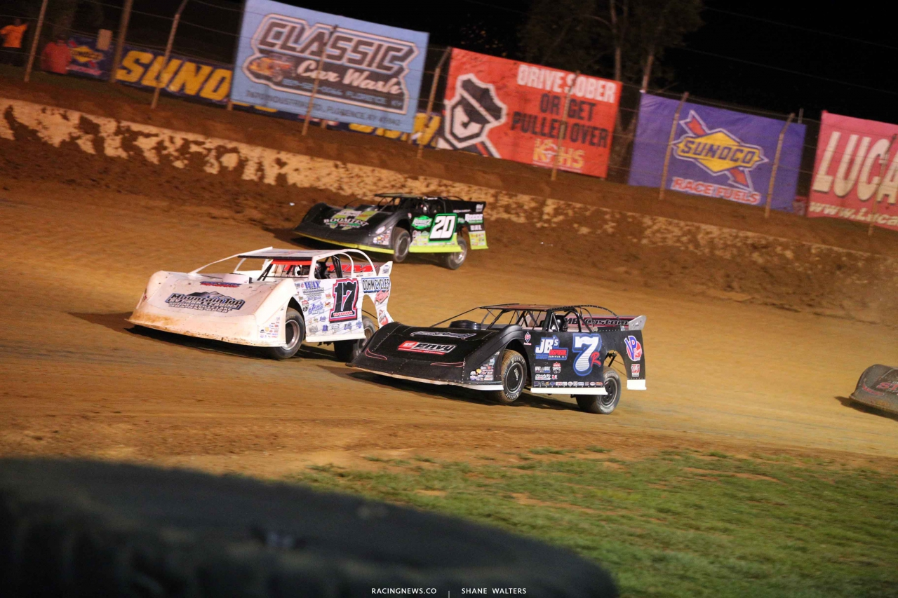 Zack Dohm, Kent Robinson and Jimmy Owens at Florence Speedway - Lucas Oil Late Models 3357