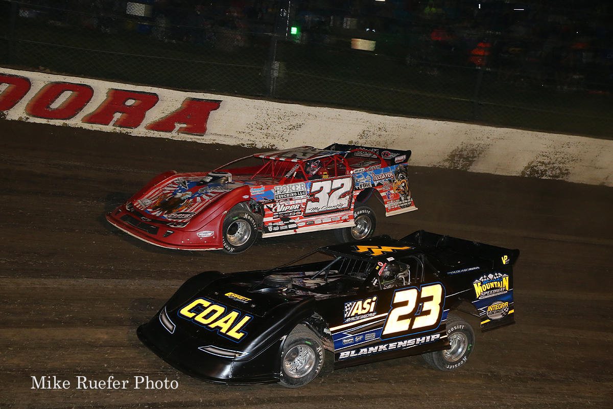 Bobby Pierce and Jonathan Blankenship at Eldora Speedway