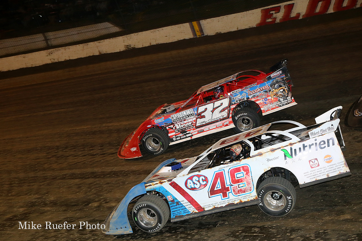 Bobby Pierce and Jonathan Davenport at Eldora Speedway - World 100