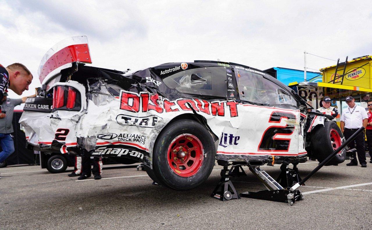 Brad Keselowski crash at Indianapolis Motor Speedway - NASCAR