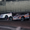 Chris Madden and Ricky Weiss at Knoxville Raceway in the Lucas Oil Late Model Nationals - LOLMDS 6991