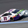 Denny Hamlin crashes in NASCAR practice at the Roval