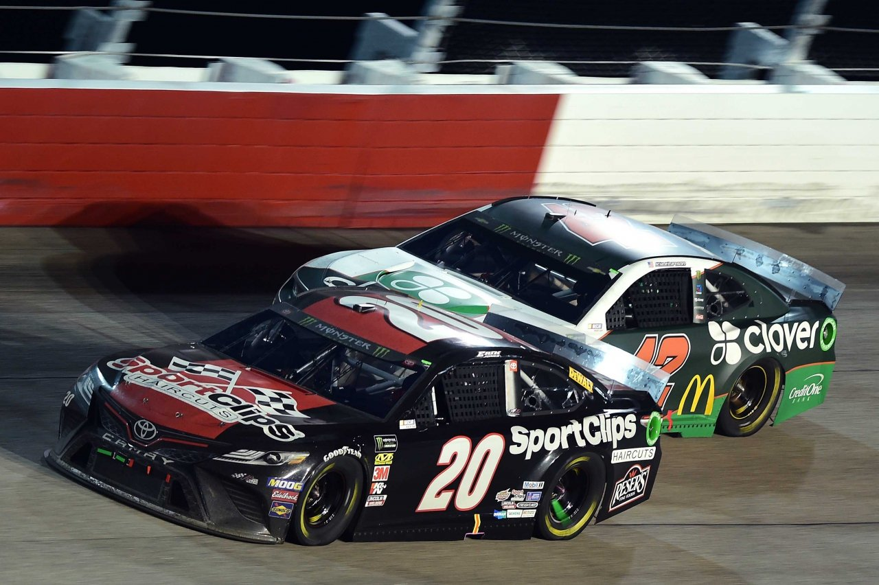 Erik Jones and Kyle Larson at Darlington Raceway - NASCAR Cup Series