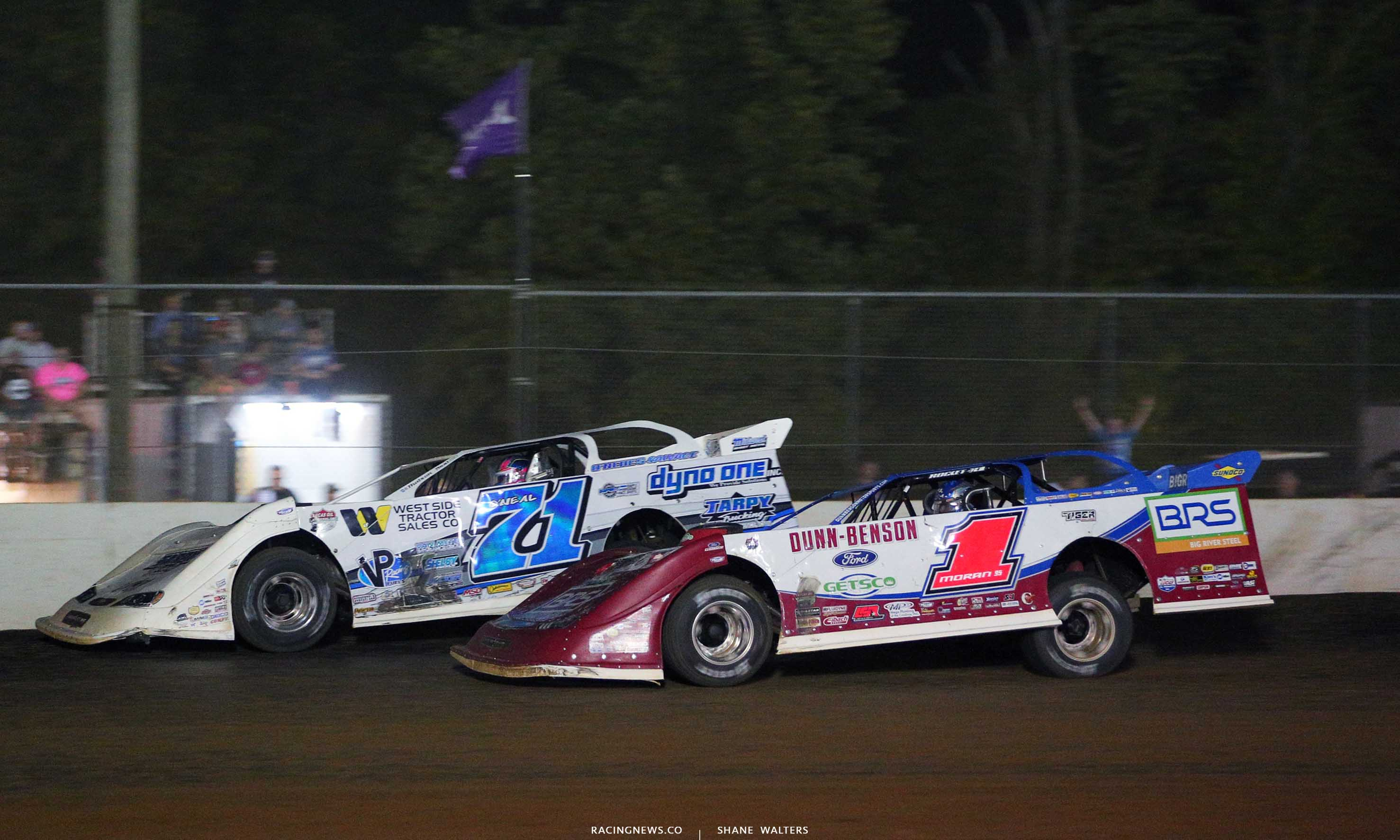 Hudson O'Neal and Devin Moran at Brownstown Speedway - Jackson 100 8097