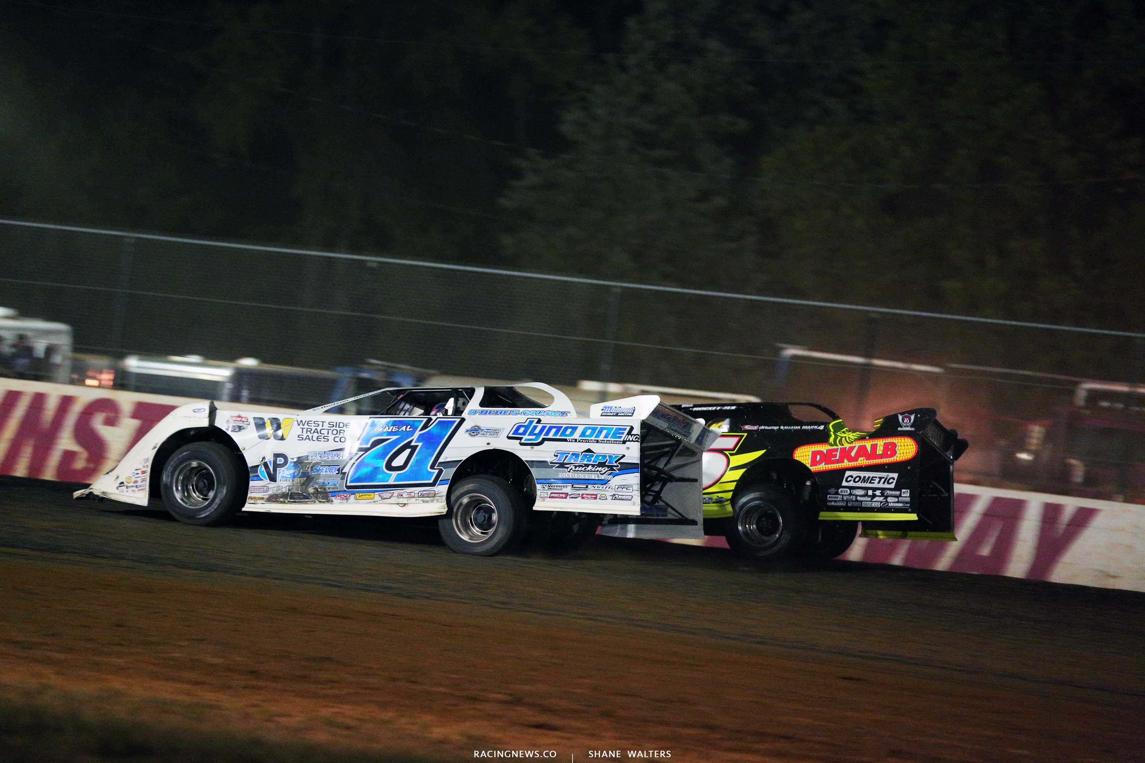 Hudson O'Neal and Don O'Neal at Brownstown Speedway - Lucas Oil Late Model Dirt Series 8057