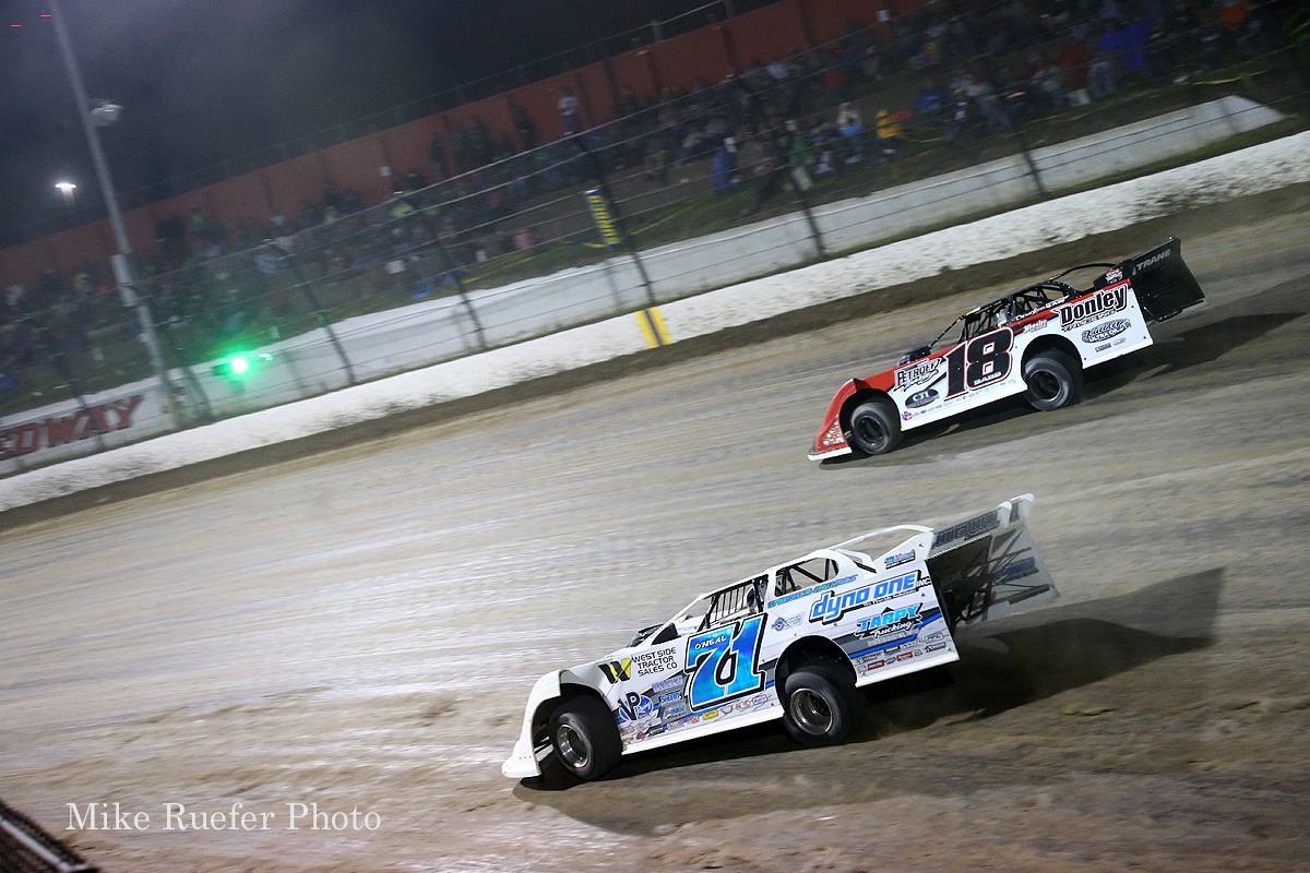 Hudson O'Neal and Shannon Babb at Eldora Speedway - World 100
