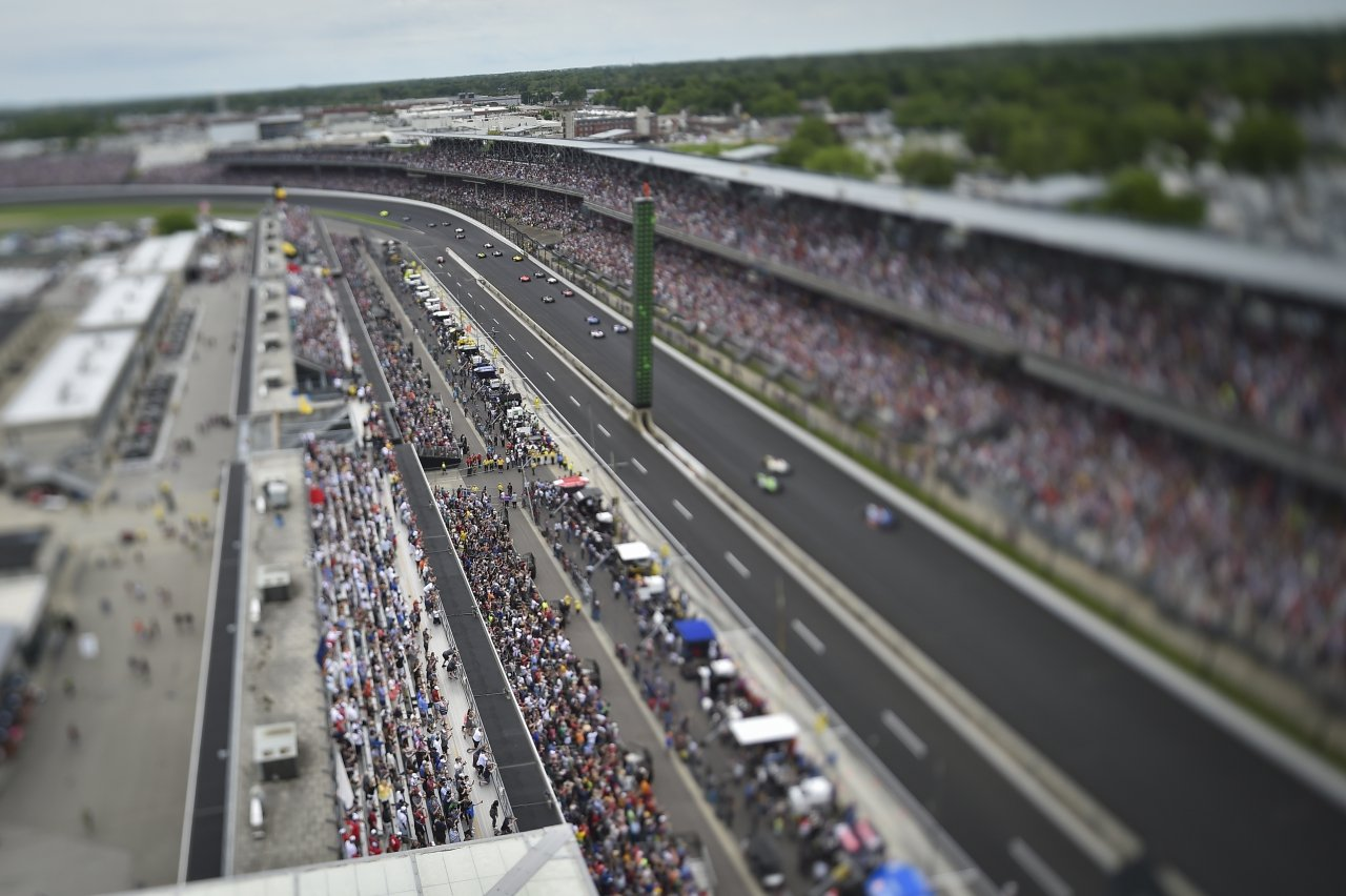 Indy 500 Tilt shift photography