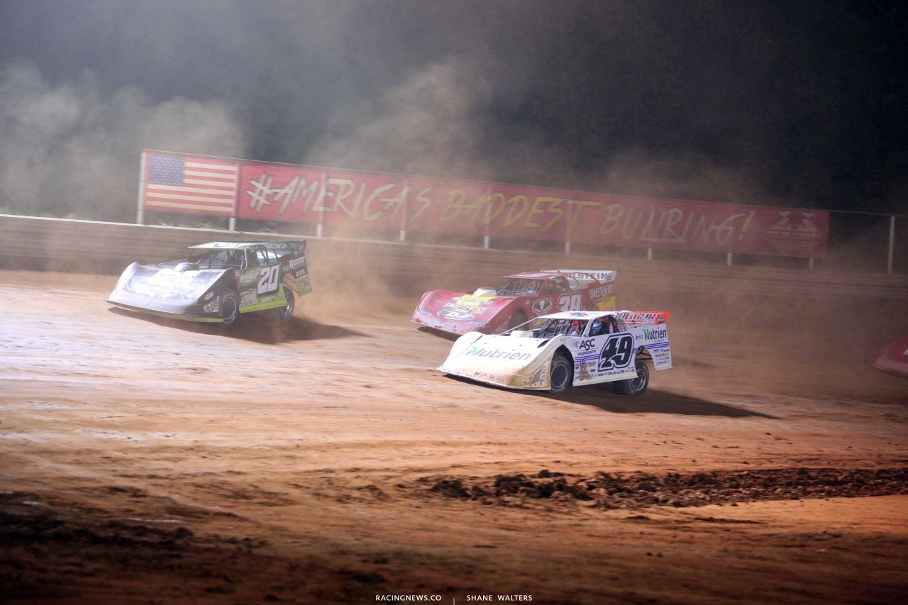 Jimmy Owens, Jonathan Davenport and Tim McCreadie at Tyler County Speedway 6648