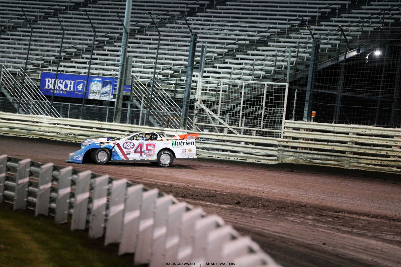 Jonathan Davenport at Knoxville Raceway - Lucas Oil Late Model Dirt Series 6792