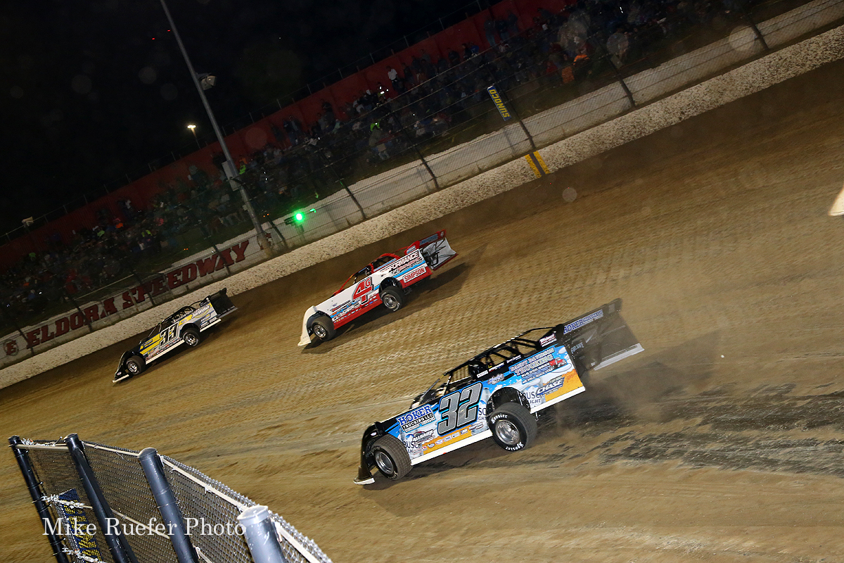 Jonathan Henry and Cody Evans at Eldora Speedway