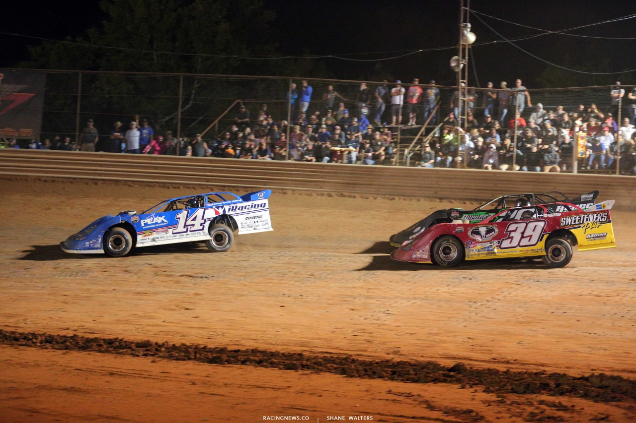 Josh Richards, Tim McCreadie and Jimmy Owens at Tyler County Speedway - Lucas Oil Dirt Series 6658