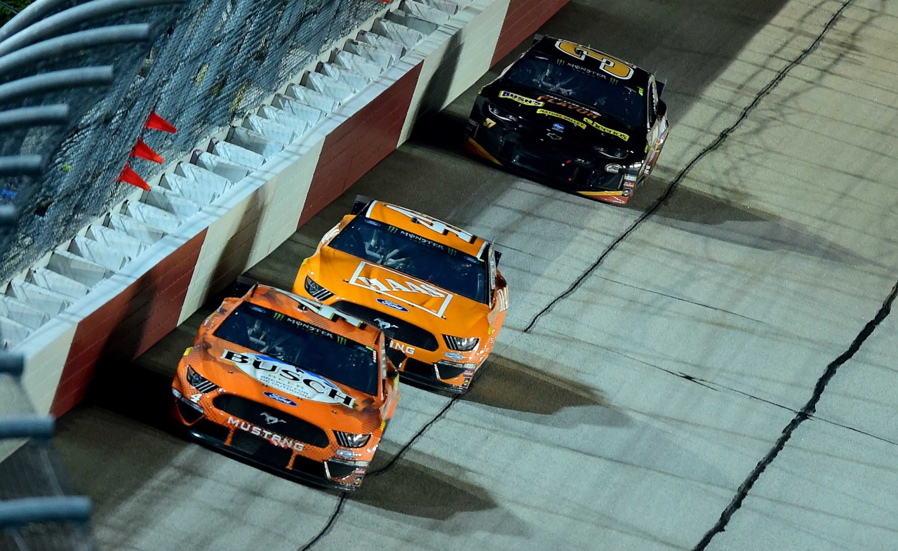 Kevin Harvick and Daniel Suarez at Darlington Raceway - Southern 500 - NASCAR