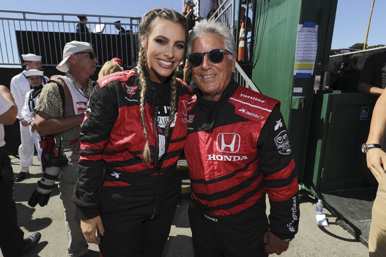 Lele Pons and Mario Andretti - Two-seater Indycar ride at Laguna Seca