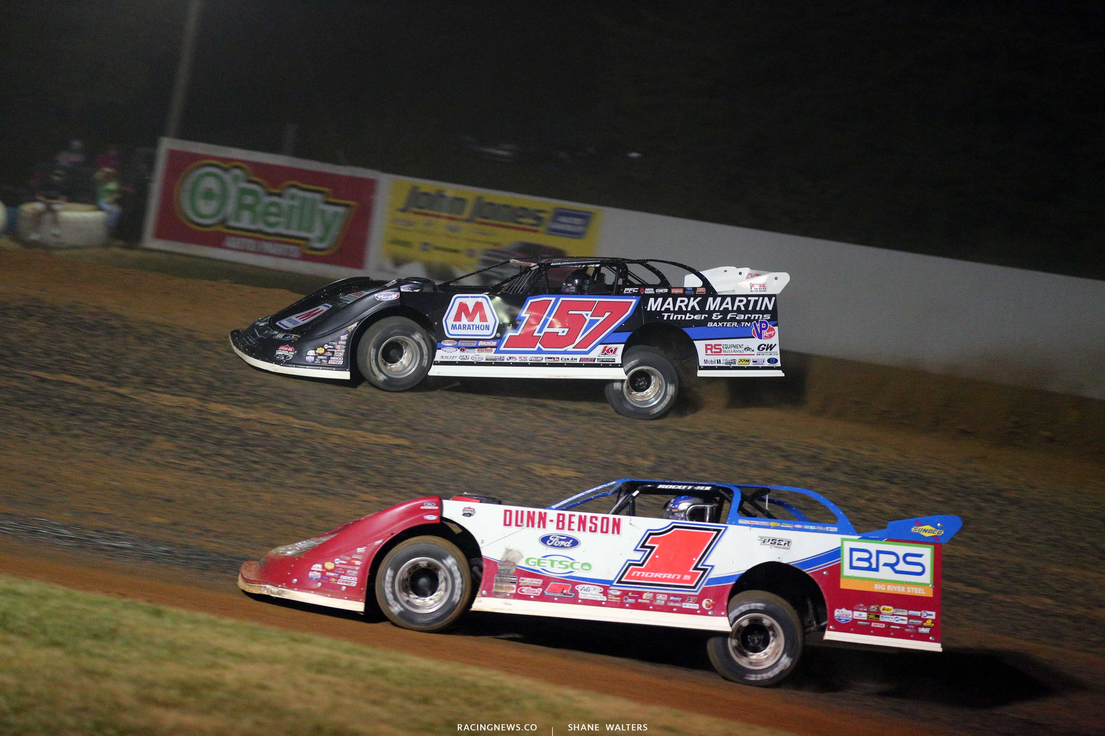 Mike Marlar and Devin Moran at Brownstown Speedway - LOLMDS 7902