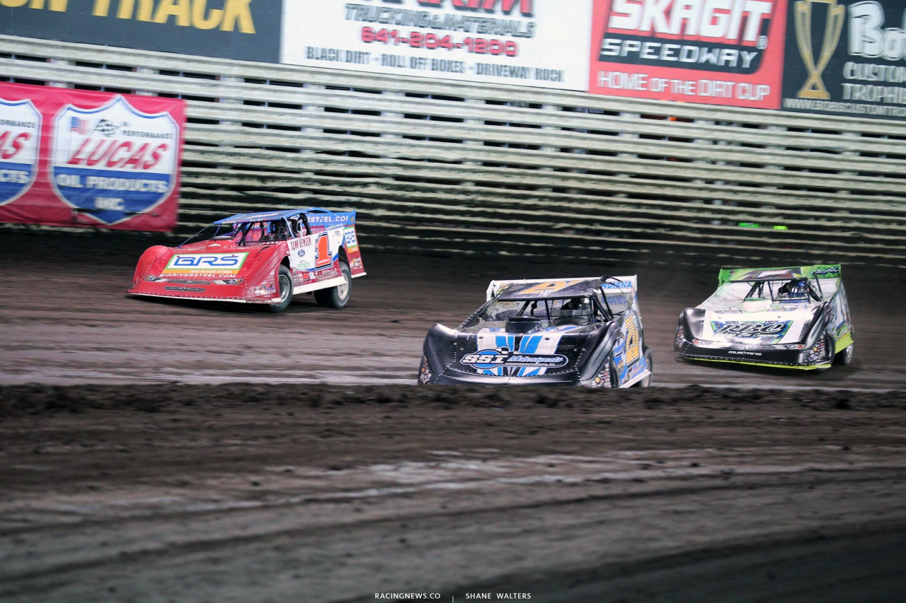Ricky Thornton Jr, Devin Moran and Tyler Erb at Knoxville Raceway - Lucas Oil Late Model Nationals 6766