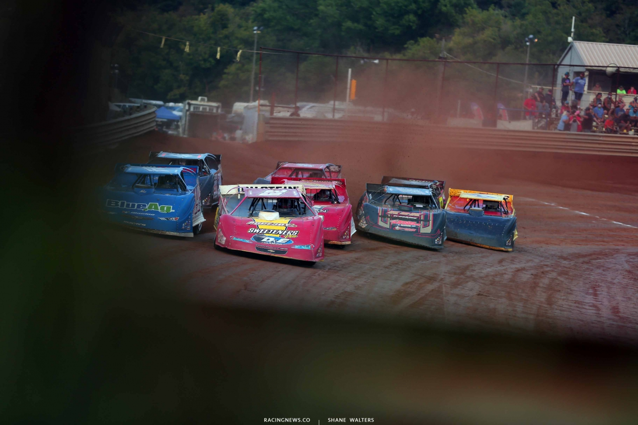 Tim McCreadie, Josh Richards, Brandon Overton and Chris Ferguson at Tyler County Speedway 6469