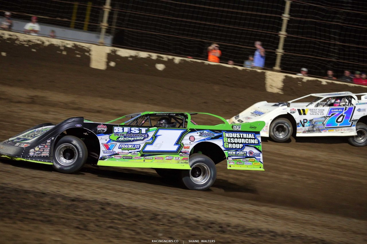 Tyler Erb and Hudson O'Neal at Kokomo Speedway - LOLMDS 7701