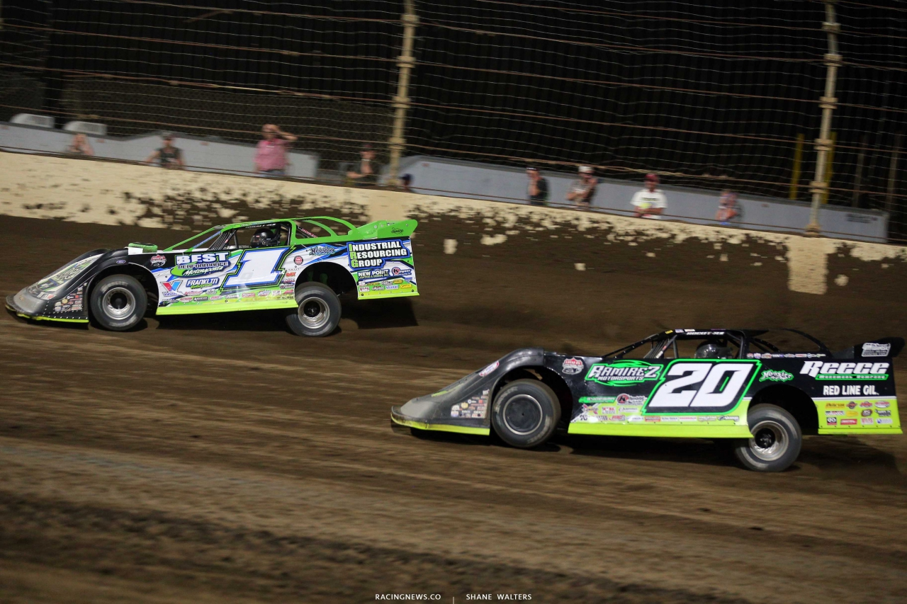 Tyler Erb and Jimmy Owens at Kokomo Speedway - Lucas Dirt 7734