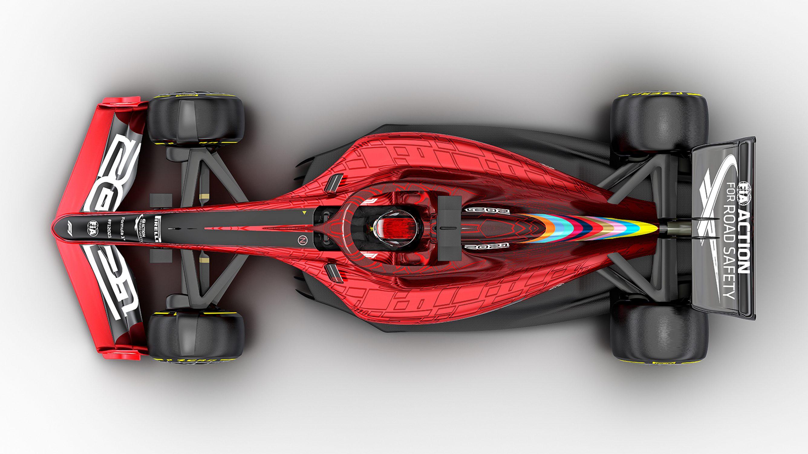 2021 Formula One Car - Roof