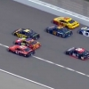 5 wide for the lead at Kansas Speedway